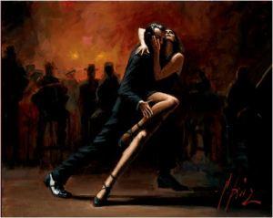 Fabian Perez - tango in white - michele moro tango blog