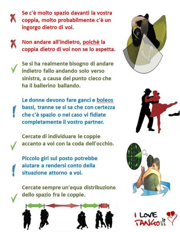 I love TANGO.it  Tango dance of passions - Come muoversi in milonga 3-3