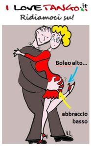I LOVETANGO.it - Il portale italiano sul tango - Ridiamoci su - Vignette - Boleo alto abrazo basso