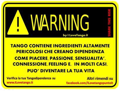 I LOVETANGO.it - Il portale italiano sul tango - Ridiamoci su - Vignette - Warning Tango