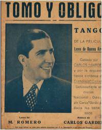 ILOVETANGO.it - Il portale italiano del tango - Brani - Tomo y Obligo - Carlos Gardel