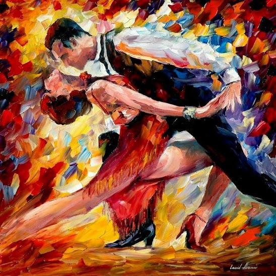 Quadro Argentine Tango di Leonid Afremov