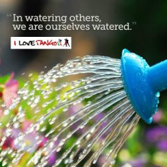 I love Tango .it - Donare acqua agli altri